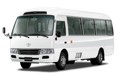 Book now Toyota Coaster